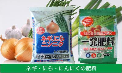 玉ネギ・長ネギ・にら・にんにくの肥料商品一覧へ