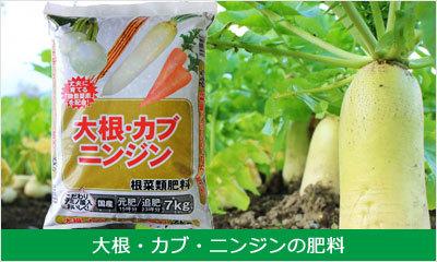 大根・カブ・ニンジンの肥料商品一覧へ